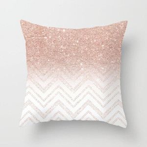 Wholesale covers for sofas resale online - Pillow Case Marbling Geometric Polyester Sofa Decorative Glitter Cushion Cover for Home Decor x45cm Peach Velvet Pillow styles RRA2904