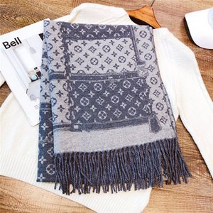 Wholesale New winter brand scarf top designer wrap yarn texture scarf multi functional fashion exquisite two sided two color shawl cm