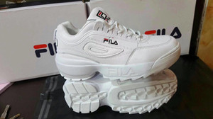 Wholesale Disruptors 2.0 X Raf Simons unisex Trainers Sneakers 2019 Big Sawtooth Casual Shoes Sports Thick Bottom White Pink Fashion Running Shoe A129