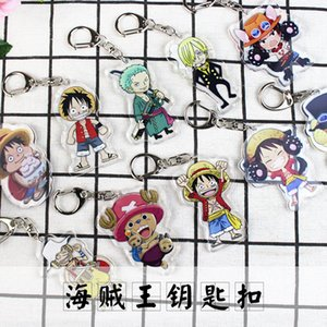 Wholesale Anime One Piece Acrylic Keychain Luffy Stylish Cute Funny Cartoon Character Soft KeyChain Acrylic Pendant Anime Accessories Cartoon Key Ring