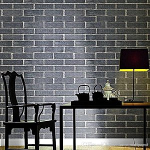 Wholesale 3D wallpaper effect Imitation Stone Brick PVC Wall Wallpaper Nature Emboss Stone Retro Background Roll Brick Wallpapers