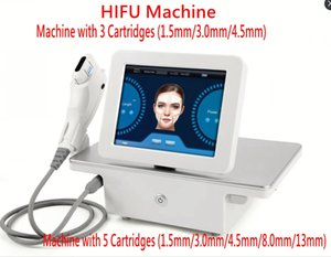 Wholesale HIFU High Intensity Focused Ultrasound Hifu Machine Face Lift Tightening Machine Anti Aging With 3 Cartridges Or 5 Cartridges
