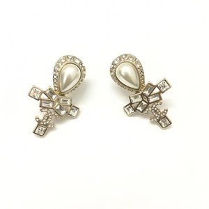 Wholesale Luxury Earrings jewelry S925 sterling silver Pearl Stud Earrings Cubic Zircon luxury women jewelry