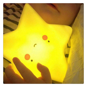 Wholesale Star Smile LED Night Light Soft Vinyl Toy for Baby Kids Bedroom Home Decoration Nursery Lamp Provides A Comforting Glow
