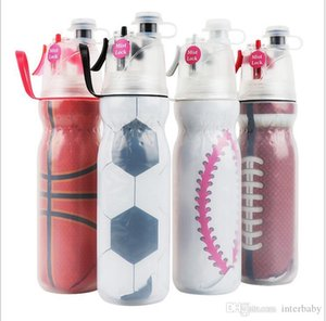 weltcamping großhandel-WM Wasserflasche Soccer Sports Kessel Tragbarer Mist Spray Sommer Kühl Cups Travel Fitness Camping Cup Plastic Spray Cups TLYP287