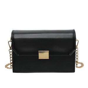 Wholesale NEW Foreign Air Small Bag Female Shoulder Bag Fashion Chain Wild Diagonal Small Square Black