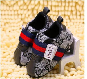 Wholesale Spring and Autumn Baby Shoes Canvas PU Leather Plaid Newborn Boys Canvas First Walker Shoes Infant Prewalker Sneakers Shoes
