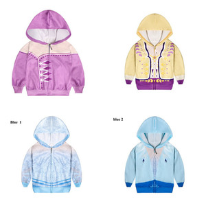 Wholesale hoodies for kids resale online - Snow Queen II Costume Kid Hooded Jackets Cosplay Outwear for Children Zipper Hoodies Coats Boys and Girls Coat Clothing