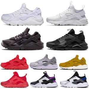 Wholesale Newest Huarache ultra Running Shoes for Men Women Triple white Mens Trainer Classic Sports Sneakers Breathable Runner Shoes size