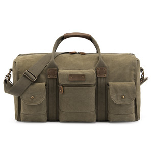 Wholesale 1Wind Will Capacity Travelling Bag Canvas Luggage Bag Portable Diagonal Male Package House moving Bag