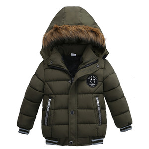 Wholesale coats for kids resale online - 2019 Fashion Autumn Winter Jacket For Boys Children Jacket Kids Hooded Warm Outerwear Coat For Boy Clothes Toddler Boy Cotton Coats HNLY23