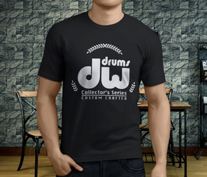 Wholesale New Popular Drums Black Cymbals Men s Black T Shirt S XL Tops Tee Summer Men S Fashion Tee mens shirts