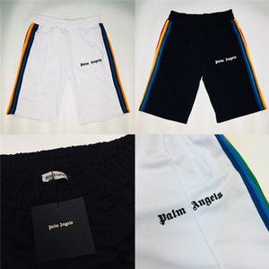 Wholesale Palm Angels Rainbow Striped Shorts Men High Quality Palm Angels Shorts New Arrived Summer Style Camo Palm Angels Short Y190422
