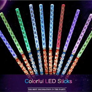 Wholesale 20pcs cm Acrylic Led Glowing Led Magic Wands Sticks Concert Bar Flashing Wands Light Up Toys Party Supplies Decoration