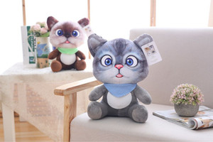 Wholesale Mini Cute Plush Cat Kids Toys Stuffed Plush Animals Sitting Position Cartoon Cat Children Doll Toys Kids Toys Baby Girls Gifts CM