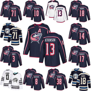Columbus Blue Jackets Cam Atkinson Pierre-Luc Dubois Gustav Nyquist Josh Anderson Seth Jones Zach Werenski Boone Jenner Nick Foligno Jerseys on Sale