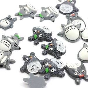 Wholesale 50PCS Mixed Design Mini Cartoon Totoro Flatback DIY Japanese Figures Resin Miniature Cabochons For Dollhouse Decoration