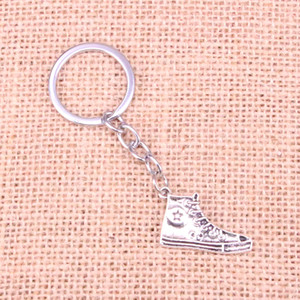 Wholesale New Fashion basketball shoes KeyChain Handmade Metal Keychain Party Gift Jewellery mm
