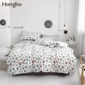 Wholesale Hongbo Cotton Bedding Set Colorful Leopard Print Comforter Bedding Set Duvet Cover Bed Sheet Pillow Quilt Cover Quilted