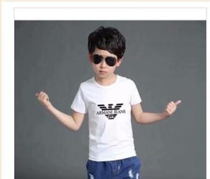 Wholesale 2019 New Designer Brand 1-9 Years Old Baby Boys Girls T-shirts Summer Shirt Tops Children Tees Kids shirts Clothing