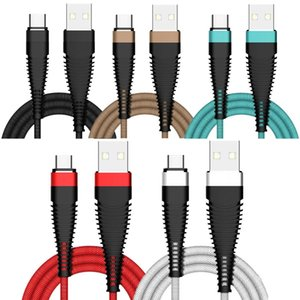 Wholesale 2A Type c Micro V8 pin Usb Cable m m m ft Usb Charger Cables for Samsung S7 S8 S9 S10 Note Lg Sony Android phone