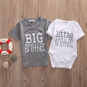 Wholesale Little Brother Baby Boy Romper and Big Brother T shirt Hot sale Family Matching Clothes