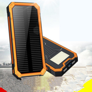 Wholesale 8000mAh Portable Solar Power Bank Outdoor External Battery Charger for iPhone Outdoors Camping