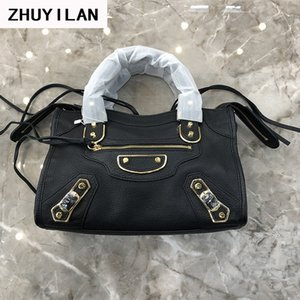 Wholesale Art2019 Goat Quality Superior Skin Locomotive Package Genuine Leather Single Shoulder Messenger Handbag