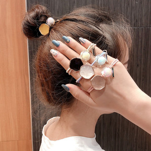 Temperament Drop Oil Hair Ring Colorful Transparent Jelly Ball Head Rope Korean Edition Red Hair Rope Decoration