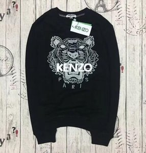 Fashion Designer KENZO Sweater Tiger Head Letter Embroidered Sweater Men's and Women's Brand Sweater S-2XL