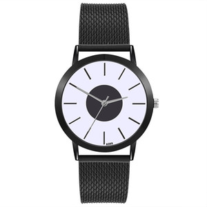 Wholesale Fashionable Business Styel Men Big Round Dial Pointer Fashion Male Watches PVC Band Quartz Watch Thin Casual Strap Watch