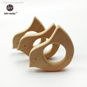 Wholesale DIY Pendent Hand Cut Birds Eco friendly Wooden Birds Teether Natural Beech Wooden Product