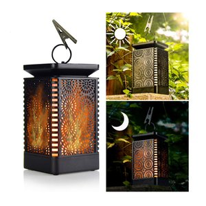 Wholesale Solar Lantern Lights Waterproof Outdoor Hanging Solar Lights with Dancing Flame and Dusk to Dawn Auto Trun On Off Function Solar Flame Lans