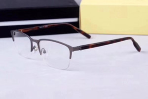Brand glass frame -2019 new men's business classic glass frame half frame can match the strength of 0015 size 58-18-150