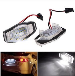 Wholesale 2pcs led License Number Plate Light Lamp V LED Light fit For Civic VII4 D City D Legend Accord D KKA6752