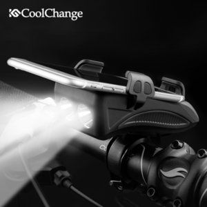 Wholesale CoolChange Bike Light USB Rechargeable Flashlight Phone Holder Bicycle Highlight mAh Power Bank Cycling Horn Led Light SH190928