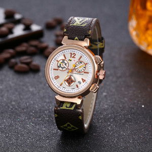 Wholesale 2019 The high quality L v Brand Fashion Luxury Women s Quartz Watches women Casual Fashion quartz watch free watches 7