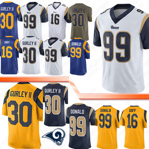Wholesale Los Angeles Jersey Rams Aaron Donald Todd Gurley II Jared Goff Eric Weddle Football Jerseys