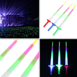 Wholesale High Quality New Rainbow Laser Sword Extendable Light Up Toys Flashing Wands Led Sticks Party dc294