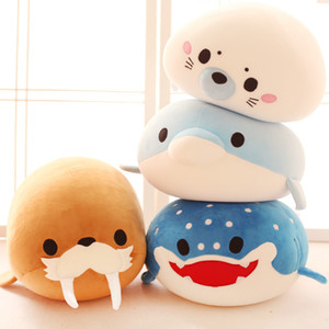 Wholesale Cute Stuffed Plush Animals Toy Soft Sea Animal Dolphin Whale Plush Doll Birthday Gift Cartoon Soft Popular Toys For Baby