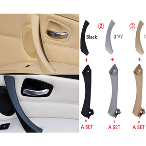 Wholesale Car Inner Handle Interior Door Panel Pull Trim Cover Gray Beige Black left Right For BMW 3 series E90 E91 316 318 320 325 328
