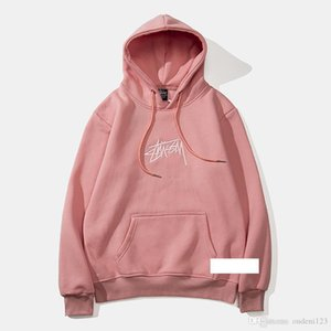 Wholesale Stussy American Brand Mens Hooded Sweater High End Luxury Designer Hoodie Fashion Hip Hop Street Clothing Classic Letters Men Sports Shirt