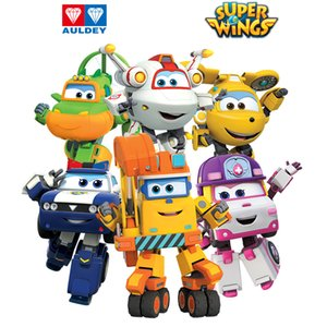 AULDEY Super Wings Mini Robot 5cm Action Figures Toys 19 Single Transforming Toy Jett Zoey Scoop Kim Astro Todd Chase Christmas Gifts