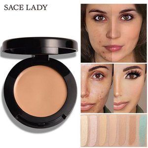 Wholesale SACE LADY Face Concealer Cream Full Cover Make Up Waterproof Facial Contour Makeup Corrector Pores Eye Dark Circles pressed powder