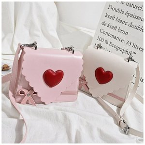2019 Women Fashion Girls Hot Sales Pink Sweet Cute Love Shoulder Bag Candy Solid Color Wild Casual Hard Handbags Korean Style