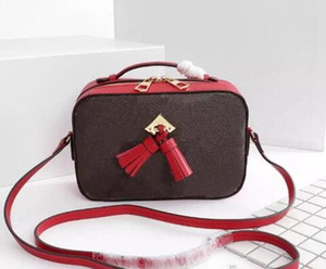 Luxury Letter Flowers Designer Camera With Tassel Belt Chain Bags Women Real Leather Handbag Shoulder Bag Totes Lady Purse Crossbody Bag