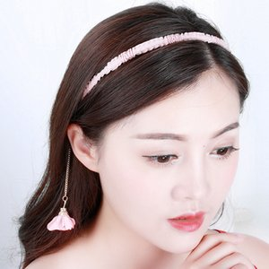 Wholesale tassel headbands for women resale online - Sweet Candy Hairband Flower Pearl Tassel Headbands for Women Girls Princess Lovely Hollow Star Pendant Head Hooop Bands Hair Accessories Gif