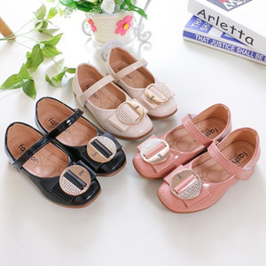 Wholesale Single Shoe Season Square Flat Bottom Children Toddler Girl Casual Sport Fashion Shoes Kids Princess Children's Shoes Woman