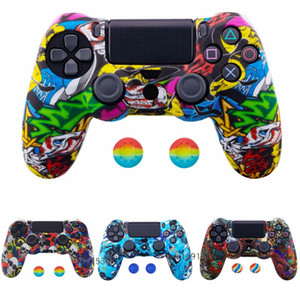 Wholesale ps4 silicone camouflage for sale - Group buy PS4 PS4 SLIM PRO Camouflage Silicone Case Cover Skin with Thumb Grip Caps for Playstation Dualshock Controller