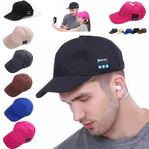 Wholesale Hot Bluetooth Music Baseball Cap Creative Canvas Sun Hat Music Handsfree Headset with Mic Speaker Cap Sport Ball Hat Party Hats